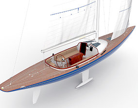 Leonardo yacht Eagle 44 BLUE 3D model