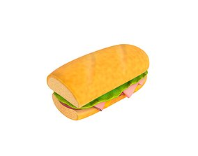 3D model Submarine Sandwich