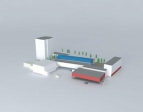 3D model Lambertseter center