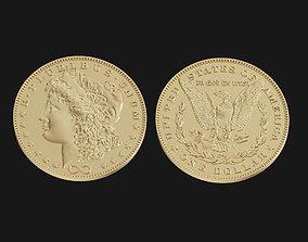3D print model One US dollar coin