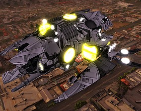 Kings - Super Fighter Ship - Updated 3D asset
