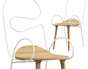 Sylph Chair by Atelier Deshaus 3 options 3D model