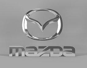 3D Mazda logo mazda