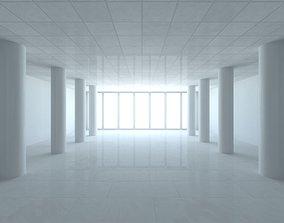 White Studio Room Set 3D model