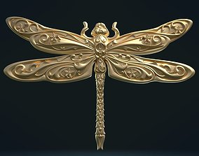 3D printable model Dragonfly Relief