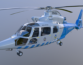 Helicopter 3D animated