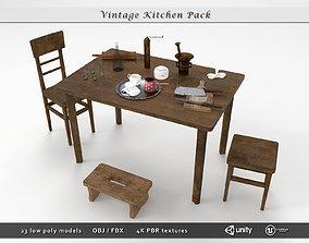 3D asset realtime Vintage Kitchen Pack