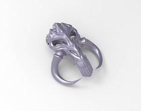 Mythosaur Skull Pendant - Mandalorian 3D printable model