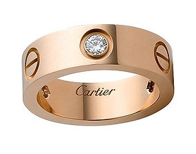 Cartier men ring 3D printable model