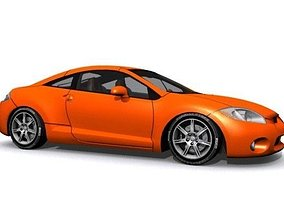 Mitsubishi Eclipse GT 3D model game-ready