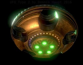UFO Type 2 Animated and Game Ready 3D asset