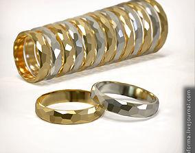 Wedding ring set of all sizes 3D printable model comfort