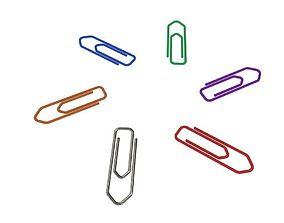 3D asset Paper clip v2