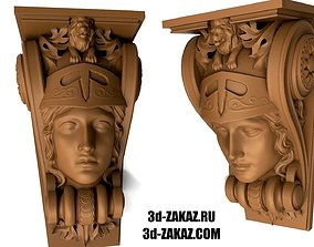 The head of the goddess Antique 3D printable model 1