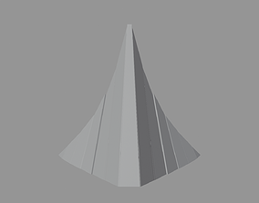 3D asset Artistic Decorative Peak Structure