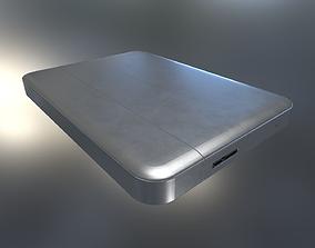 External Hard Drive Low Poly Aluminium Version - 3D asset