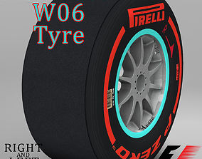 W06 Supersoft front tyre 3D asset