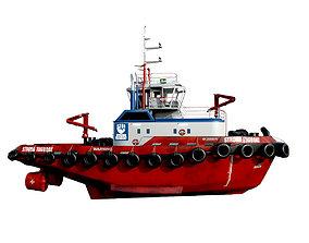 Tugboat lowpoly 3D asset