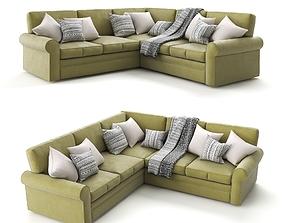 3D Green Corner Sofa by Century Furniture