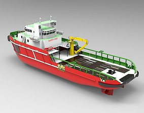 Supply ship Indo 3D asset