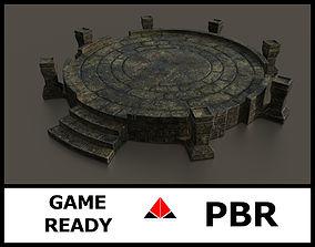 Ancient altar 3D asset