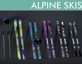 3D model ski sports equipment
