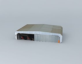3D model LSZB airport Bern Belp Hangar