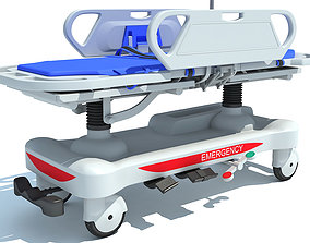 3D model Patient Transfer Medical Stretcher
