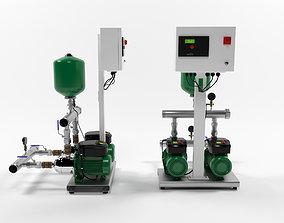 Wilo Comfort-Vario COR2-MHIE205 pump station 3D model