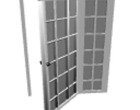 3D model Opened patio glass door