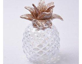 3D model Clear Gisla Glass Pineapple Sculpture