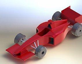 3D F1 car