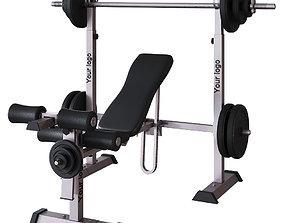 Sports bench 3D model