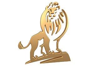 3D model Lion Emblem v1 005