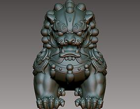 Chinese Guardian Lion cnc 3D print model