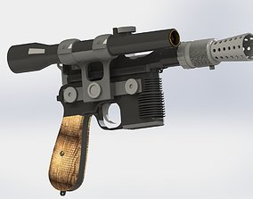 DL 44 Han Solo blaster pistol from Star 3D printable model