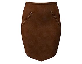 leather skirt apparel 3D model