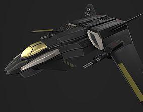 X-72 Vengeance Fighter Craft 3D asset VR / AR ready