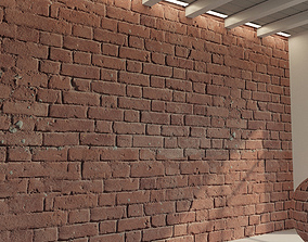 3D model Brick wall Old brick 66
