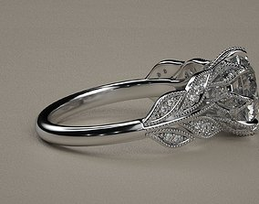 3D print model jewelry Leaf ring
