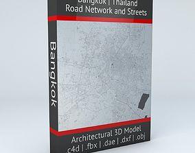 3D Bangkok Road Network and Streets