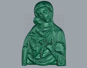 mother Mary with Child Medallion 3D print model
