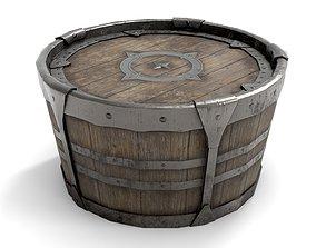 3D model realtime Ancient Wooden Barrel