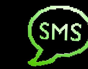 3D asset Low poly SMS voxel 1