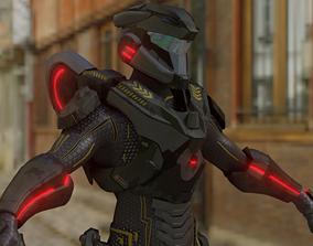 Ouzer Futurys Soldier 3D model