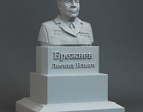 Sculpture of Brezhnev 3D print model