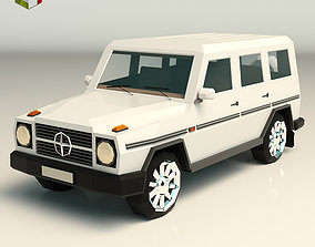 3D model Low Poly SUV 03