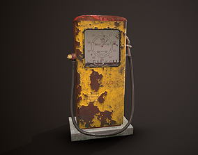 Game-Ready Soviet Gasoline Pump 3D asset