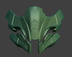Reptile mask for face from Mortal 3D printable model 4
