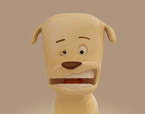 Cartoon dog 3D model
